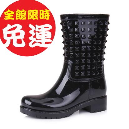 雨靴雨鞋高筒長筒雨靴中筒短筒機車靴短靴長靴馬丁靴保暖防滑厚底4色100l29【Brag Na義式精品】