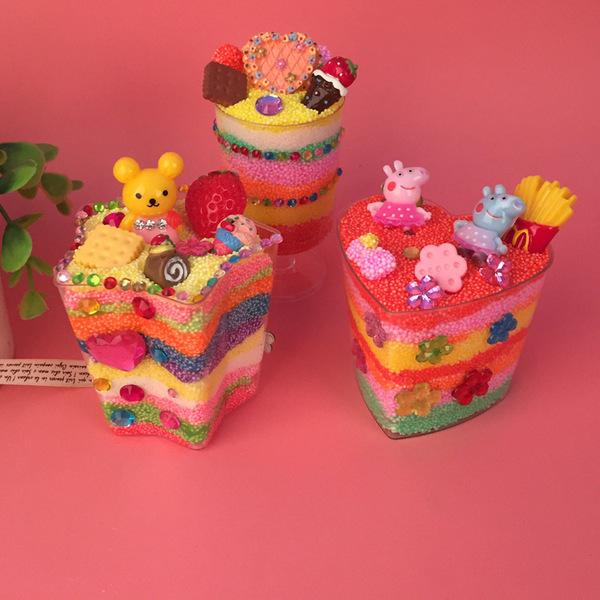 兒童手工創意diy雪花泥珍珠泥彩泥粘土慕斯杯材料包套裝益智玩具預購CH550