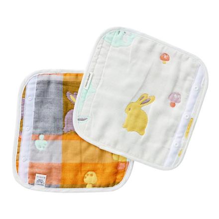 奇哥快樂森林六層紗揹巾口水巾22x22cm一對2個佳兒園婦幼館