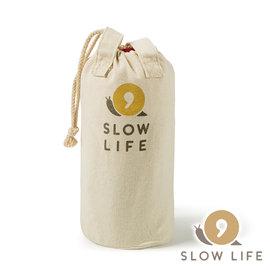 【 SLOW LIFE 】自然系棉質多功能收納袋 1717023 收納袋 束口袋 提袋 麻布 戶外 露營 登山 套杯 瓦斯罐