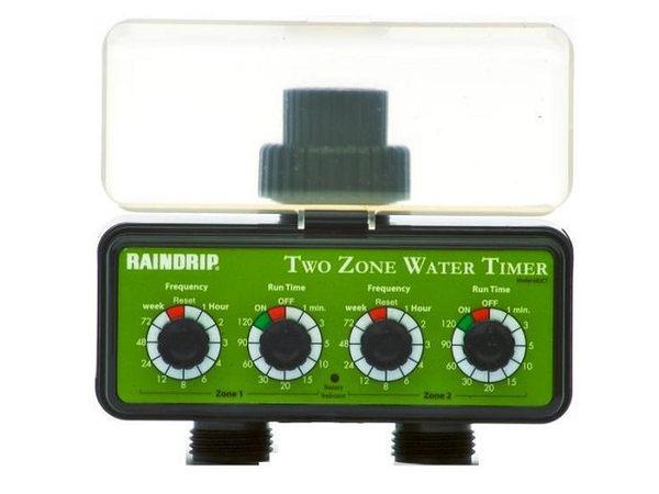 美國Raindrip雙孔一台抵兩台電子式簡易型自動灑水器自動定時灑水器定時自動灑水器