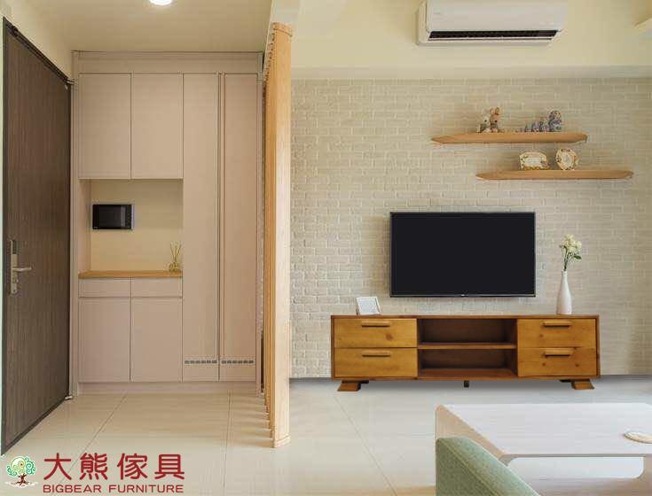 【大熊傢俱】DG-3 原木電視櫃 實木櫃 地櫃 電視櫃 視聽櫃 長櫃 CD櫃 矮櫃 置物櫃 儲物櫃