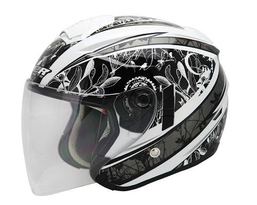 東門城M2R FR-1 2古典款珍珠白銀3 4罩安全帽