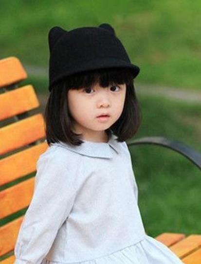 Ministyle韓國兒童羊毛呢貓耳朵嬰兒馬術帽遮陽帽男女寶寶鴨舌帽子毛呢帽造型帽