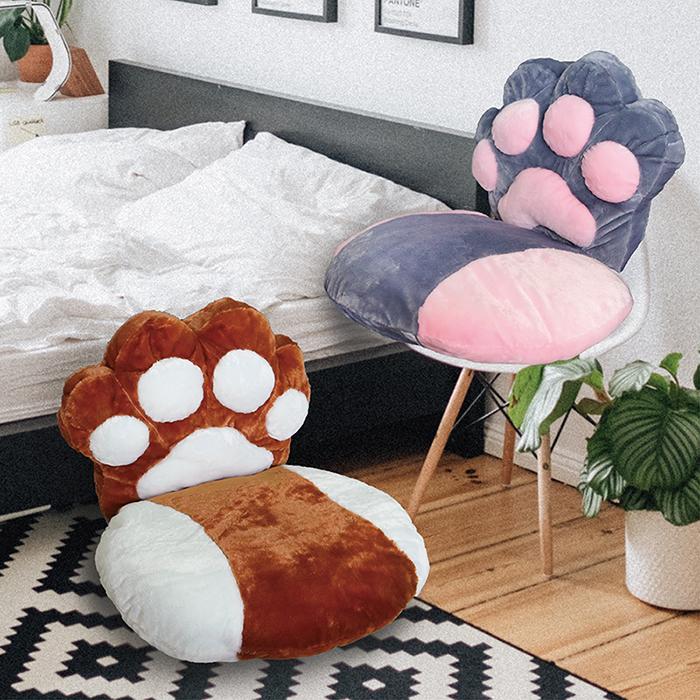 【Victoria】可愛貓掌坐靠墊-兩款任選 _TRP多利寶