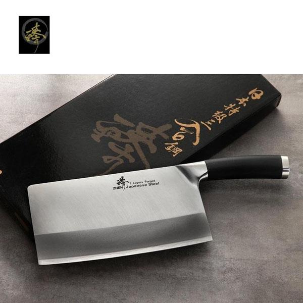 料理刀具三合鋼系列-中式菜刀-剁刀臻高級廚具-SC829-4C TPR