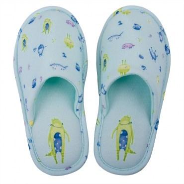 HOLA home太空怪物兒童拖鞋包口款S