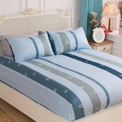 【Jenny Silk名床】星語.100%精梳棉.標準雙人床包組.全程臺灣製造.贈枕頭