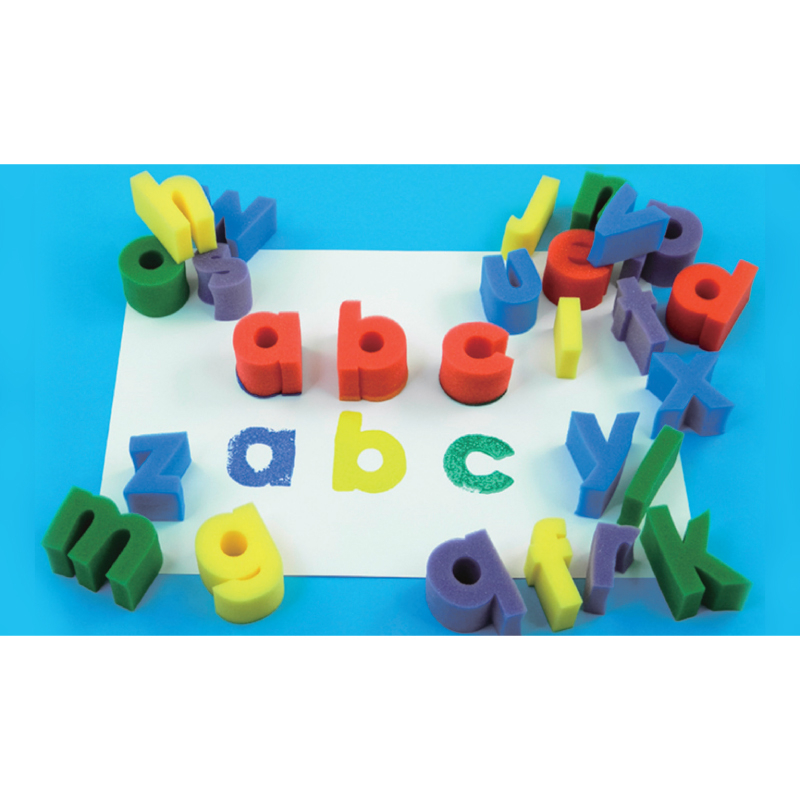 海綿印章-小寫英文字母 兒童幼兒教具教學道具彩繪著色畫圖用具親子同樂綜合活動藝術與人文