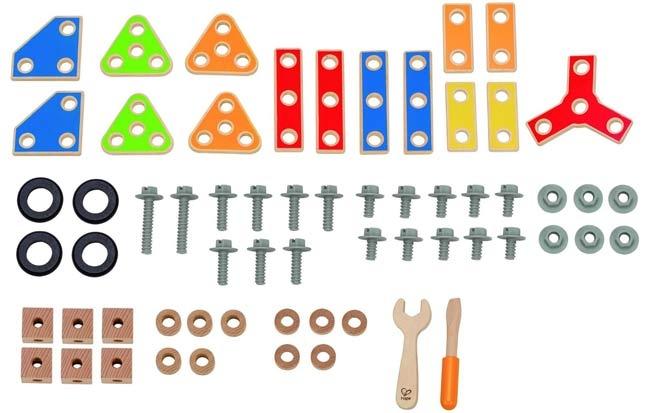 德國 Hape愛傑卡 組裝建構系列 工匠組(62PCs)