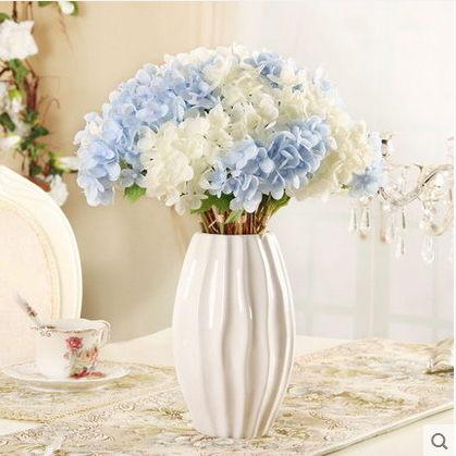 F0809清新簡約瓶花器擺設歐式家居客廳桌面裝飾品繡球花套裝1套