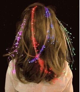 LED燈發光假髮 頭飾髮夾 (不挑色)