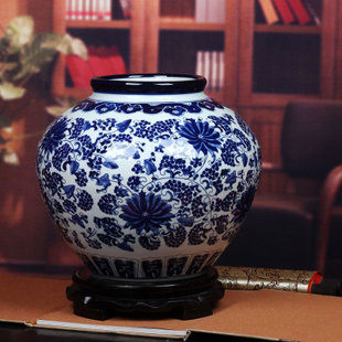 景德鎮陶瓷器青花瓷大花瓶五彩陶瓷罐