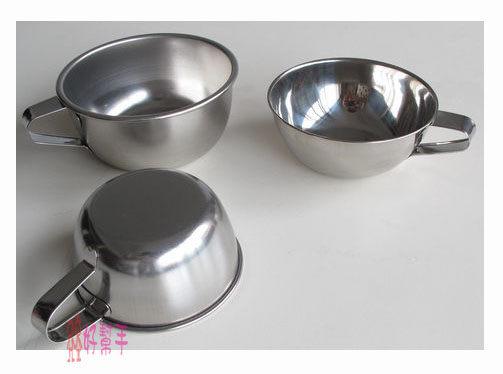 好幫手生活雜鋪*304附耳碗10CM-不鏽鋼碗.不銹鋼碗.環保碗.口杯.不鏽鋼便當盒碗.鋼杯