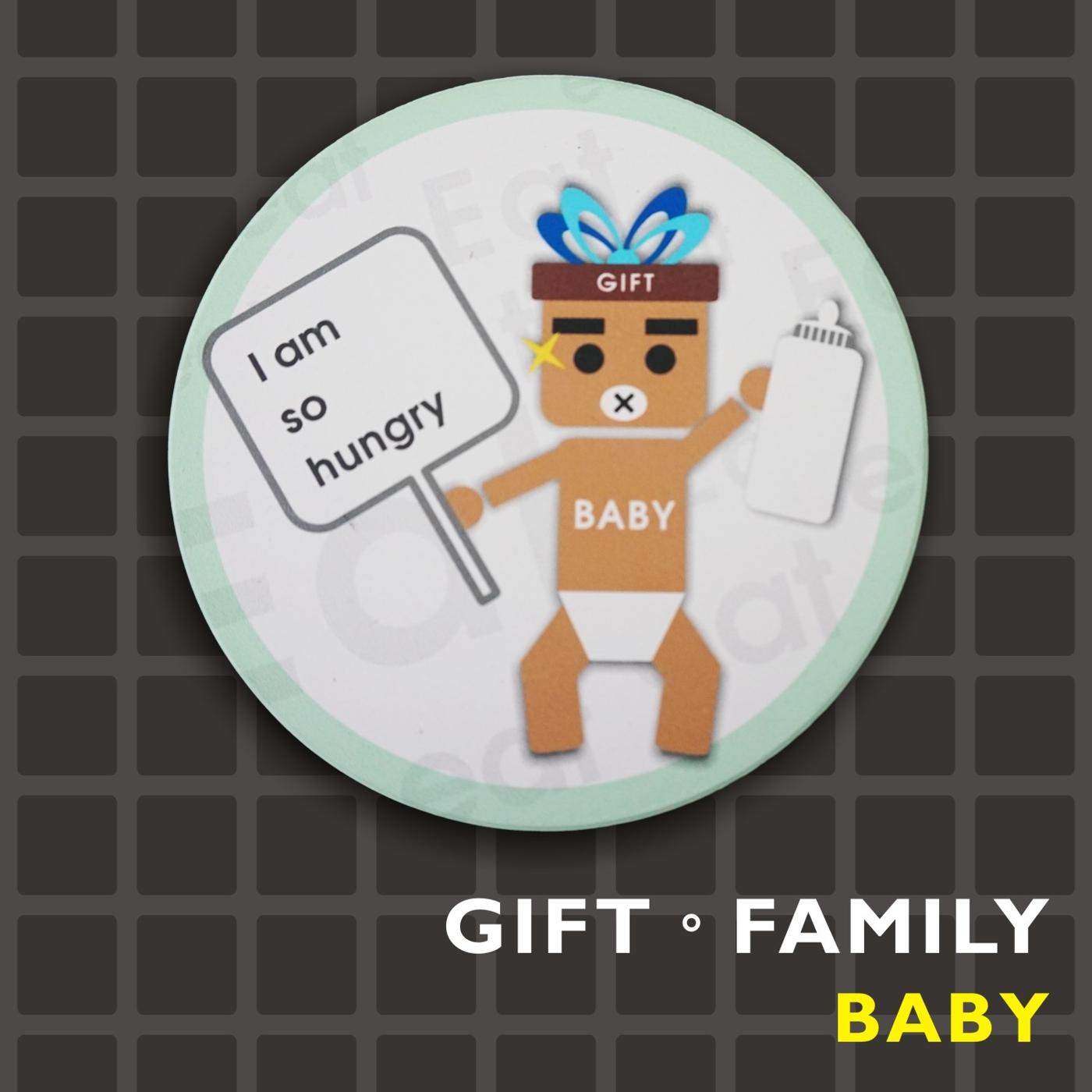 GIFT FAMILY-BABY ◎陶瓷吸水杯墊-設計款-【Fruit Shop】