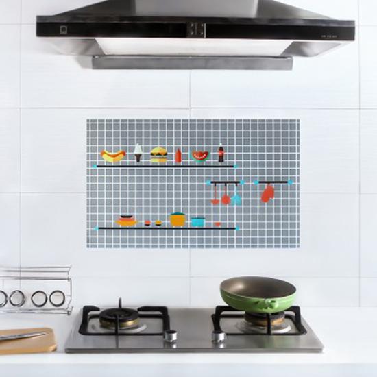 ✭慢思行✭【P308】自黏耐高溫防油貼紙 家用 灶台 磁磚 牆貼 廚房 防水 牆紙 防油紙