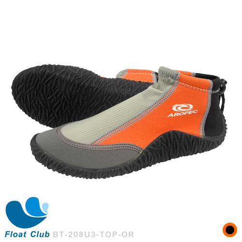 2.5mm潛水鞋 游泳短套鞋.潛水膠鞋 浮潛膠底套鞋 游泳保暖鞋 腳踝調整型束繩潛水鞋- 橘