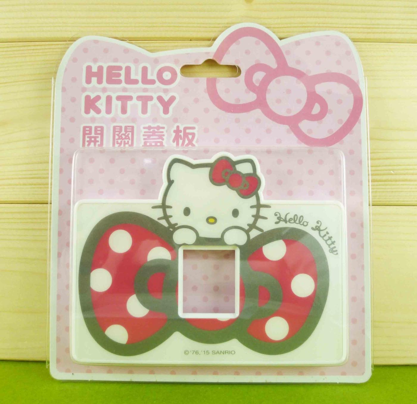 【震撼精品百貨】Hello Kitty 凱蒂貓~開關蓋面板-單孔-粉色蝴蝶結【共1款】