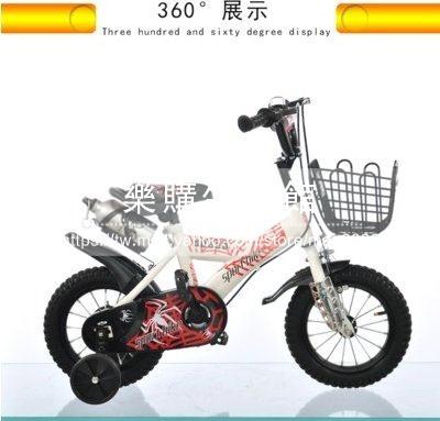 兒童自行車男女孩四輪腳踏車12 14 16 18吋可選白色水壺LG-286856