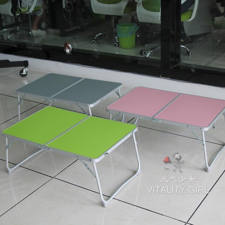 超輕野餐戶外折疊桌輕便便捷可折疊小桌床上筆記本桌TW元氣少女