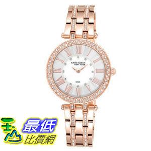 104美國直購女土手錶Anne Klein New York Swarovski Crystal Rose Tone Women s Watch A969941 4619