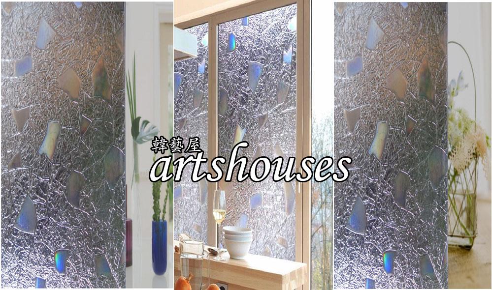 XM-3DWD027銀白立體刻紋雕3D無膠靜電玻璃貼窗貼防曬壁貼可重複貼kitchen bathroom glass