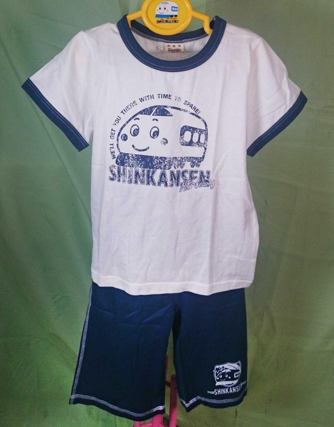 【震撼精品百貨】Shin Kan Sen 新幹線~衣褲組_白衣藍褲