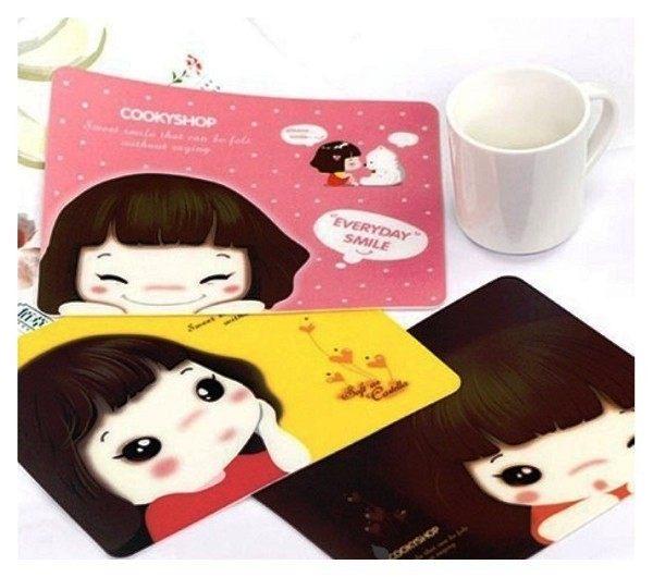 想購了超級小物韓版超人氣女孩妞子滑鼠墊辦公文具用品韓國熱銷小物創意小物