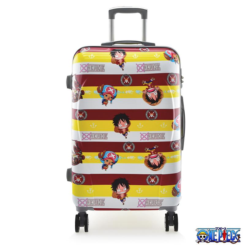航海王海賊王ONE PIECE 24吋海軍風PC材質旅行箱行李箱紅黃條紋3OP2Y11