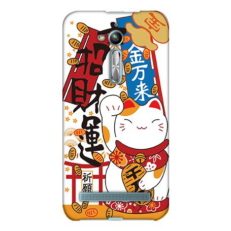 機殼喵喵華碩asus ZenFone go ZB500KL X00ADA手機殼軟殼保護套招財貓
