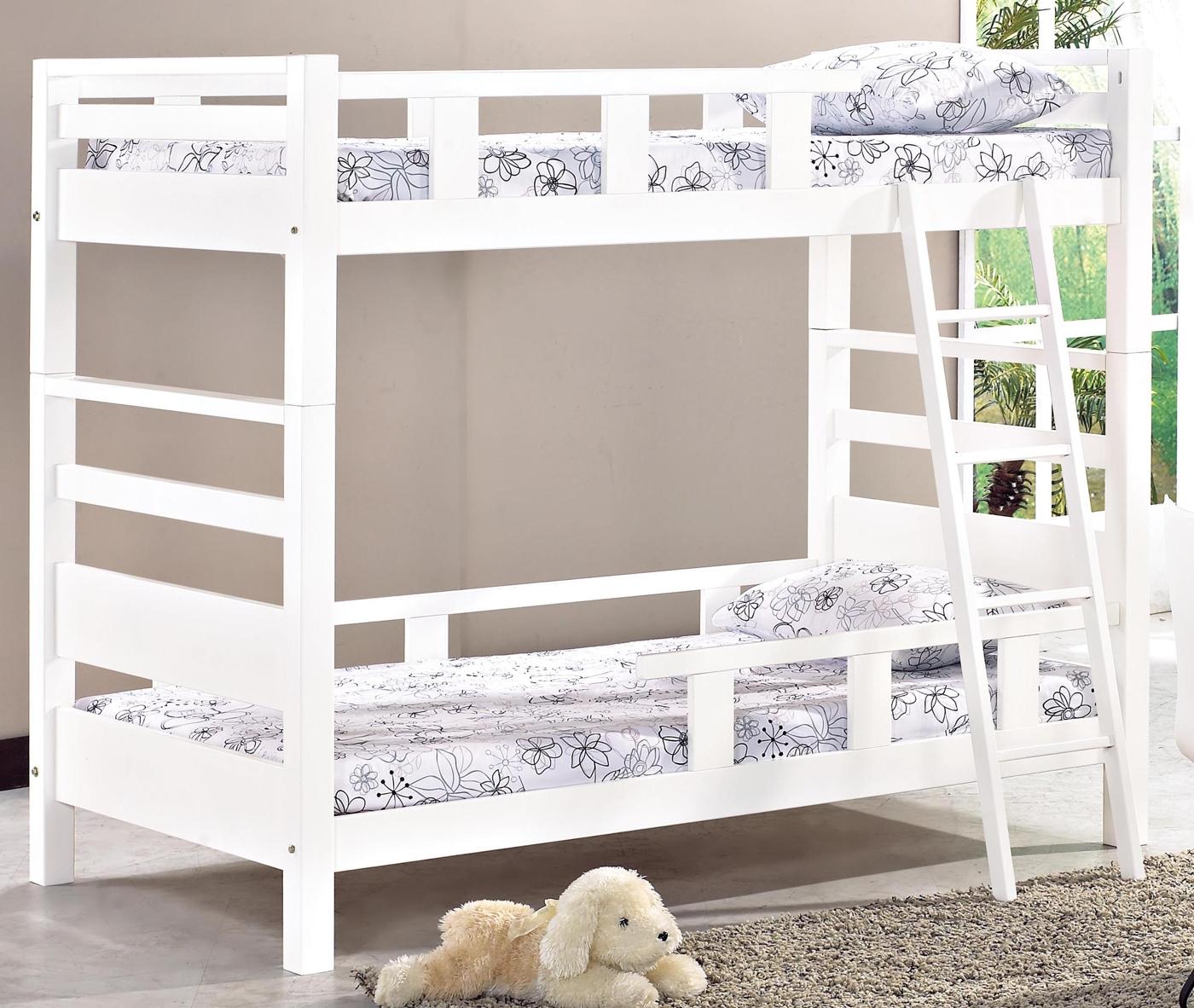 森可家居佐伊白色雙層床不含床墊6JX473-1上下舖實木