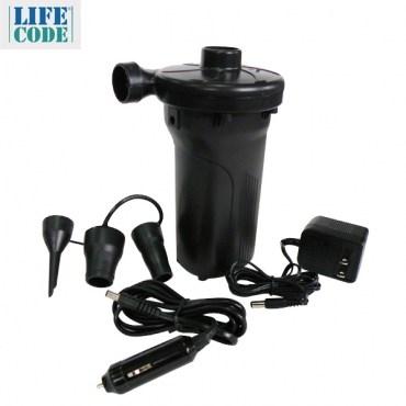 【LIFECODE】三合一電動充氣幫浦-內建長效蓄電池 家用110V 車用12V