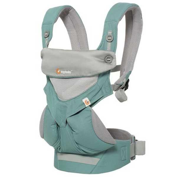 贈止汗巾美國ergobaby四式360嬰兒揹帶背巾揹巾~360透氣款薄荷綠~總代理公司貨