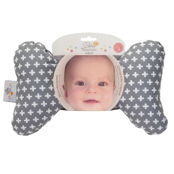 美國 Baby Elephant Ear 寶寶護頸枕 (灰色十字) Grey Cross Ear