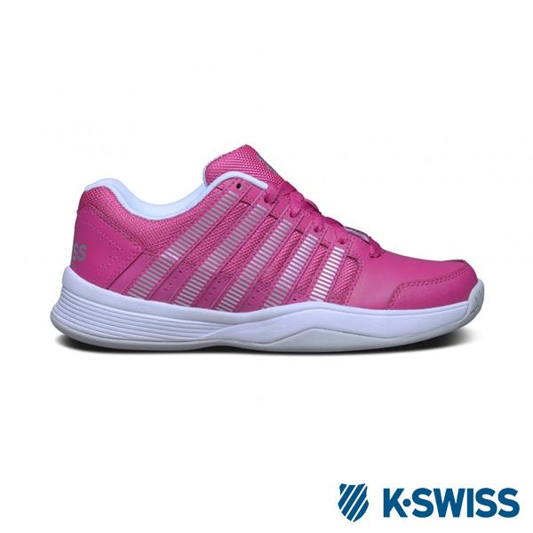 K-Swiss Court Impact輕量運動鞋-女 - 莓紅/銀