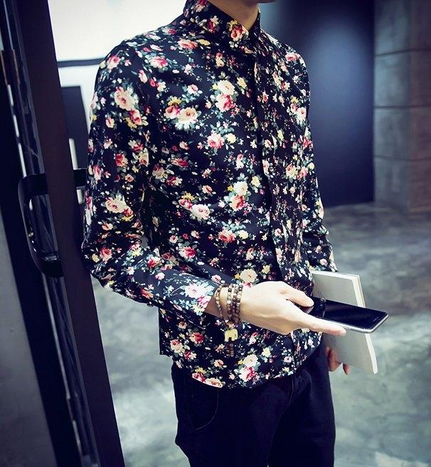 找到自己韓國花襯衫.男裝.合身.花美男.英倫.正韓.公司貨.夜店