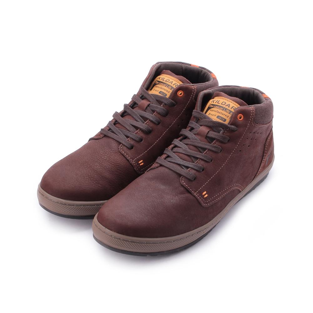 巴西KILDARE WAXY SADDLE CAMEL 真皮蠟感短筒靴 咖 AL73710-SA 男鞋