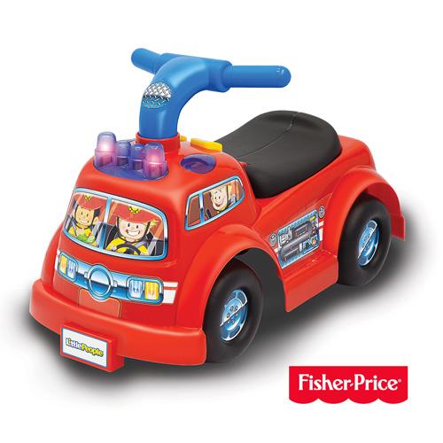 費雪Fisher-Price Little People 消防車騎乘玩具