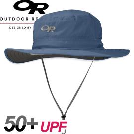 Outdoor Research美國HELIOS SUN HAT輕量抗UV透氣中盤帽暗藍圓盤帽防風帽運動帽防曬帽243458