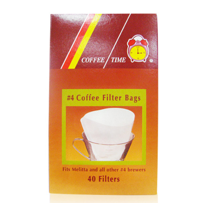 《COFFEE TIME》研磨用咖啡濾紙 #4 (4人份) 40入/盒