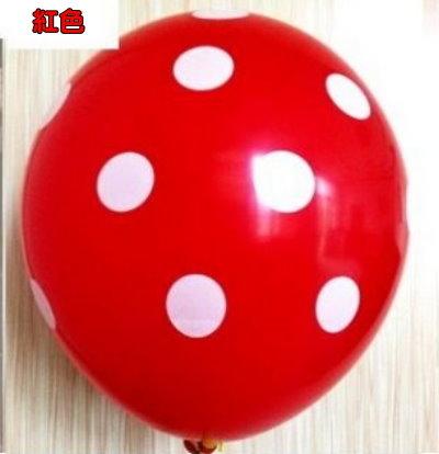 12吋點點乳膠球(未充氣)-紅色/顆~~會場布置.婚禮布置