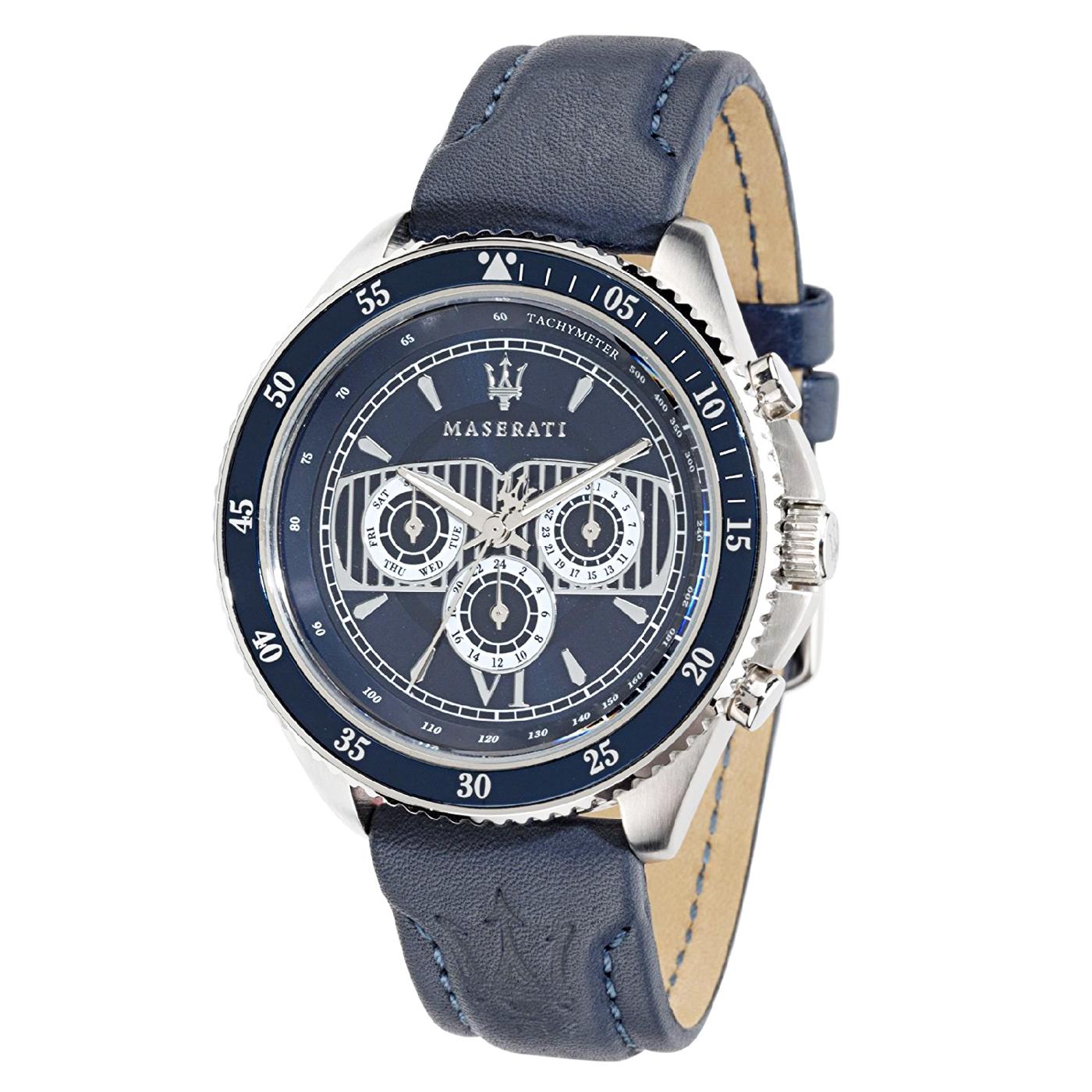 MASERATI WATCH-瑪莎拉蒂手錶-深海藍款-R8851101002-錶現精品公司-原廠正貨-鏡面保固一年