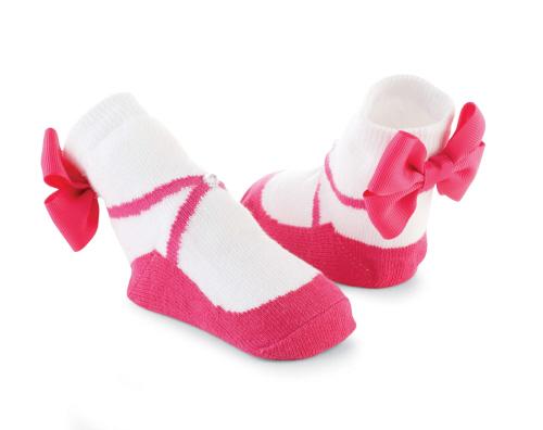 瑪麗珍短襪組: 熱情粉水鑽大蝴蝶結: 176262