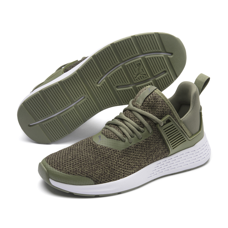 Puma Insurge 男鞋 綠色 運動鞋 慢跑鞋 記憶鞋墊 套襪式 透氣網布 慢跑 健身 跑鞋 36948202