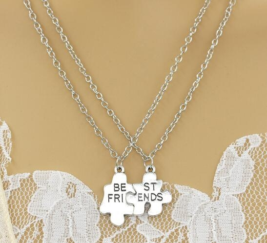 [Mini style] 項鏈 韓版 新款 Best Friends 好朋友 吊墜 閨蜜 飾品 時尚 百搭 禮物 情侶 拼圖 刻字
