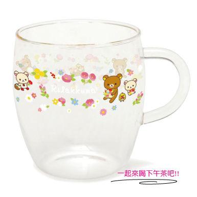 特別版San-X拉拉熊懶懶熊春季限定玻璃杯馬克杯