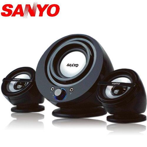 新竹【超人3C】三洋 聲之藝2.1聲道多媒體喇叭 SYSP-832 高雅流線感外型 KT#SKSYSP832
