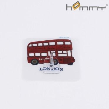 HOMMY黏貼式掛勾-英倫巴士單入