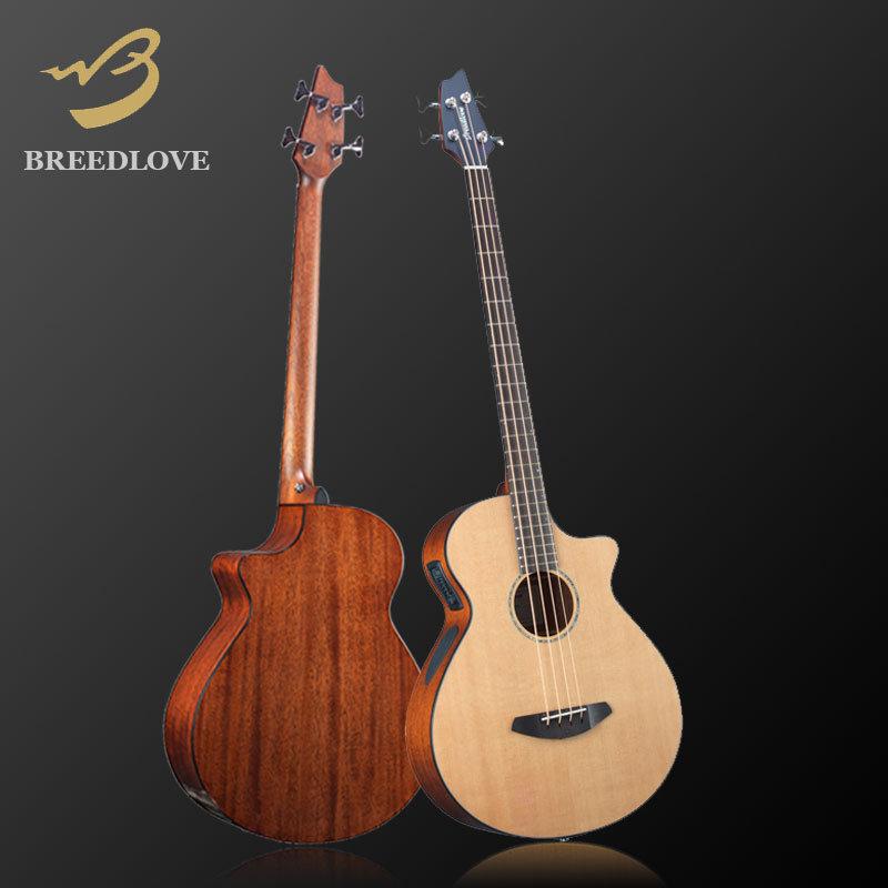 無琴格電木貝斯美國Breedlove Solo系列BASS SLB31CEF-小叮噹的店