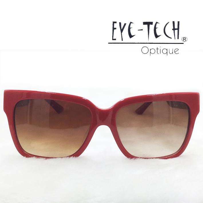 橘子樹眼鏡Eye Tech方型鏤空花紋太陽眼鏡獨家限量ET3268紅色抗UV太陽眼鏡日本製